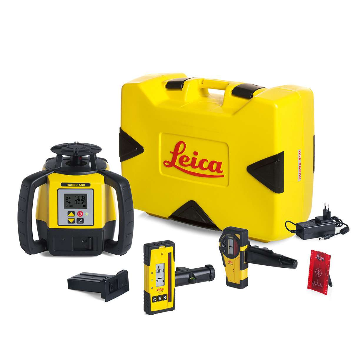 Leica Rugby 610 Laser Level (with Charger / Receiver) Video