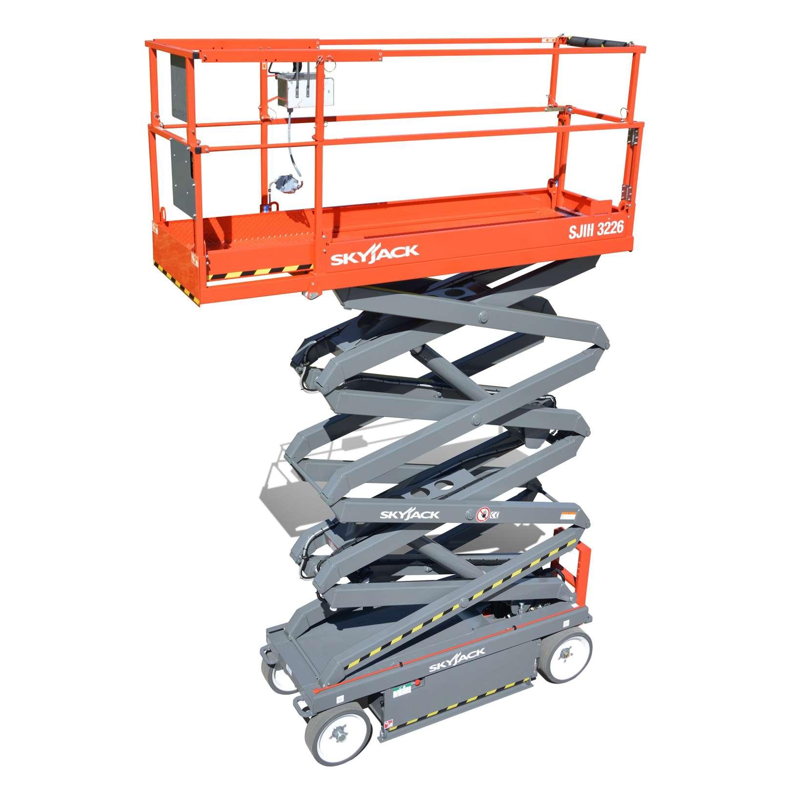 skyjack sj111 3226  wh 9 9m  scissor lift hire