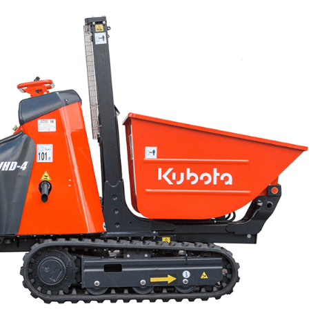 Kubota KC70-4 Pedestrian Skip Loader – High Tip For Hire Video