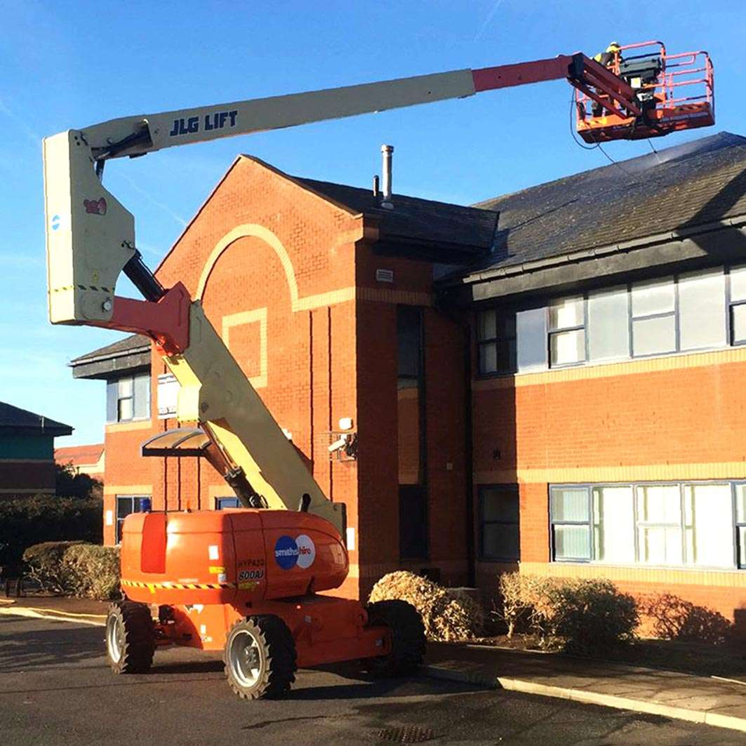 Smiths Hire Powered Access Lift In Action