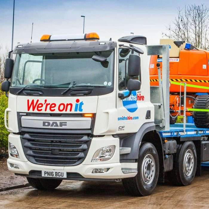 Smiths Hire Powered Access Delivery Lorry